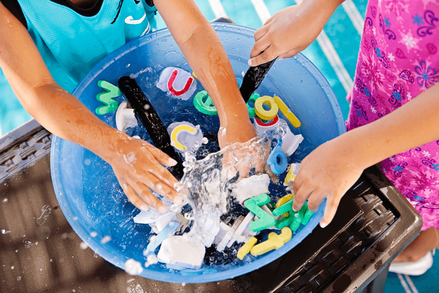 Alphabet soup water activity ~ 10 Fun in the Sun Summer Boredom Busters
