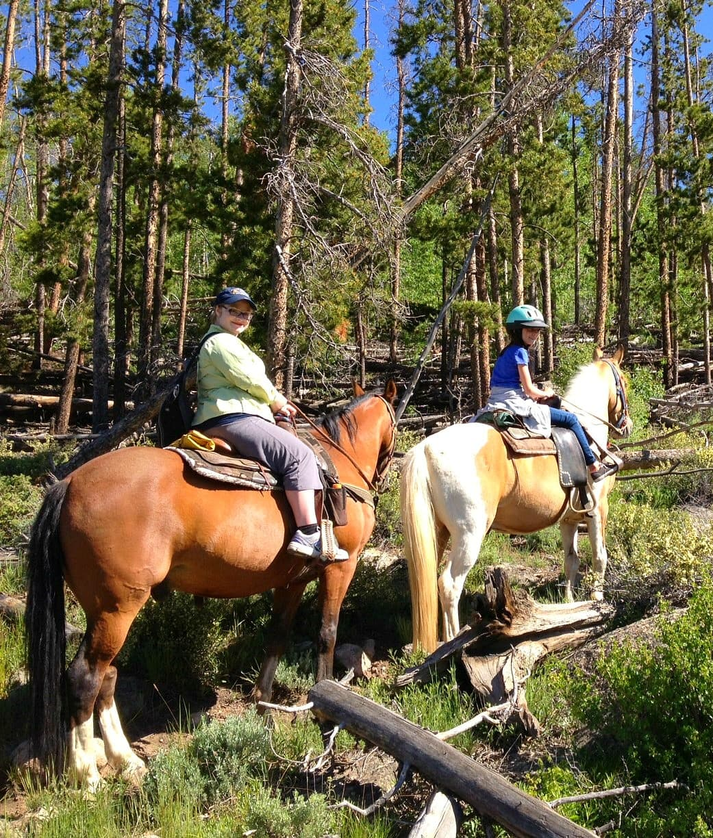 A family trail ride in Keystone, Colorado ~ How to Connect Kids with Nature on Family Vacation