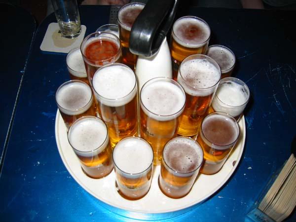 Traditional Kölsch beer served in Cologne, Germany