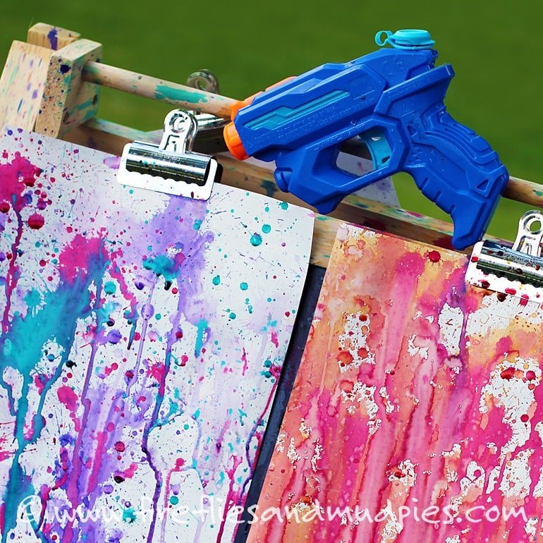 Squirt gun art ~ 10 Fun in the Sun Summer Boredom Busters