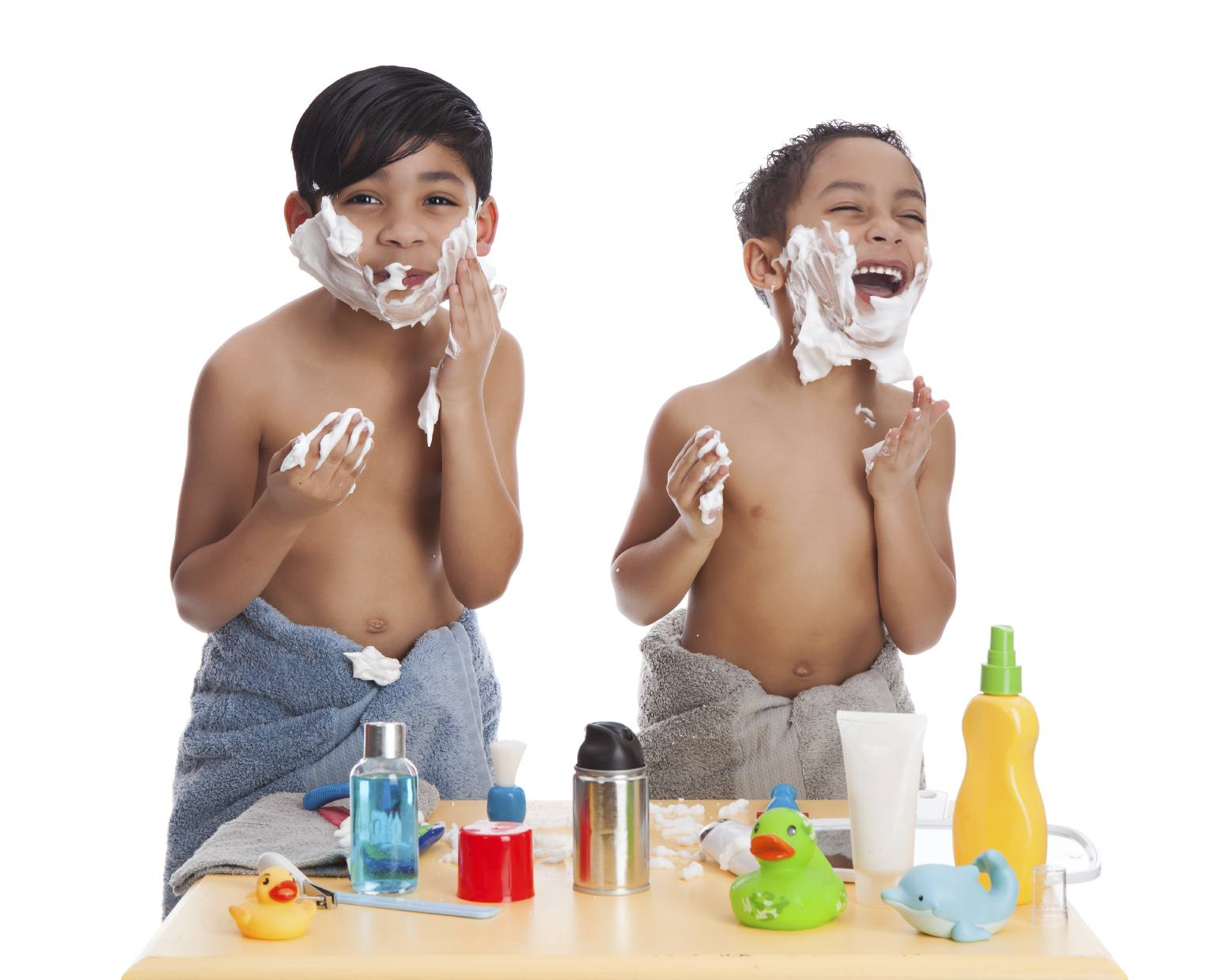 Kids love playing with shaving cream ~ 10 Fun in the Sun Summer Boredom Busters