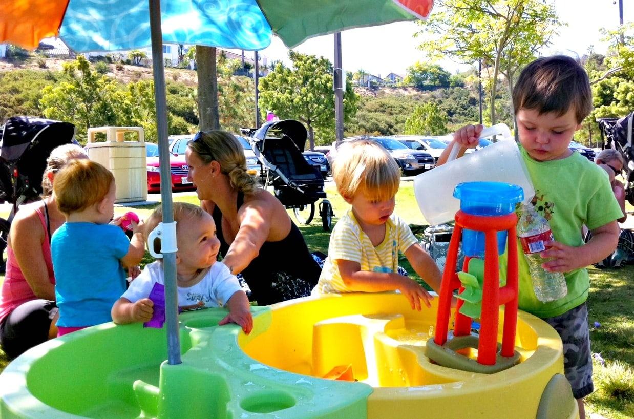 Water play tables are especially fun for toddlers and preschoolers ~ 10 Fun in the Sun Summer Boredom Busters