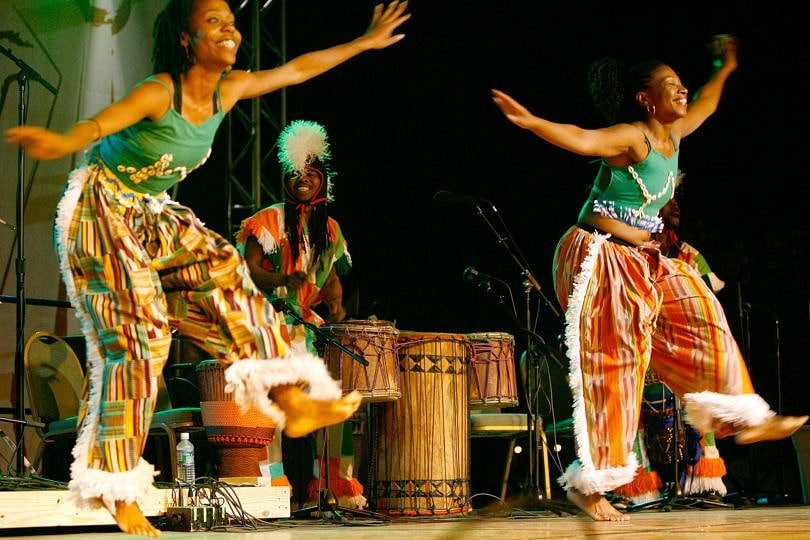 African dancers at the National Folk Festival in Richmond, Virginia ~ Best Free Music Festivals for Families in the USA
