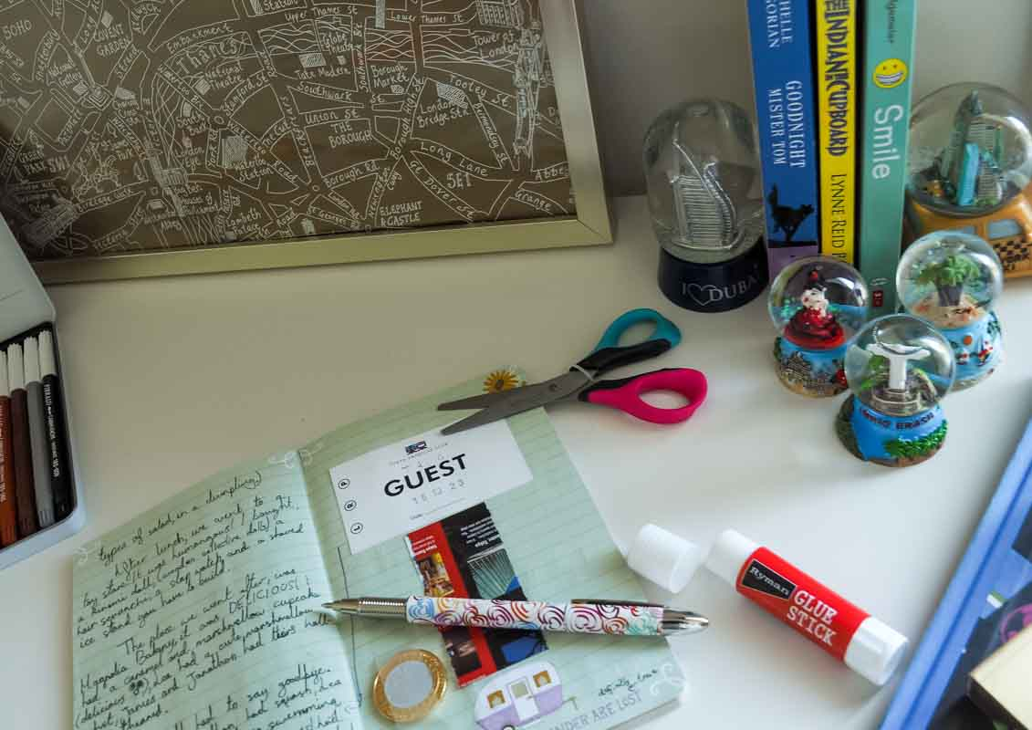 A collection of snow globes from around the world ~ How to decorate a travel themed room for kids