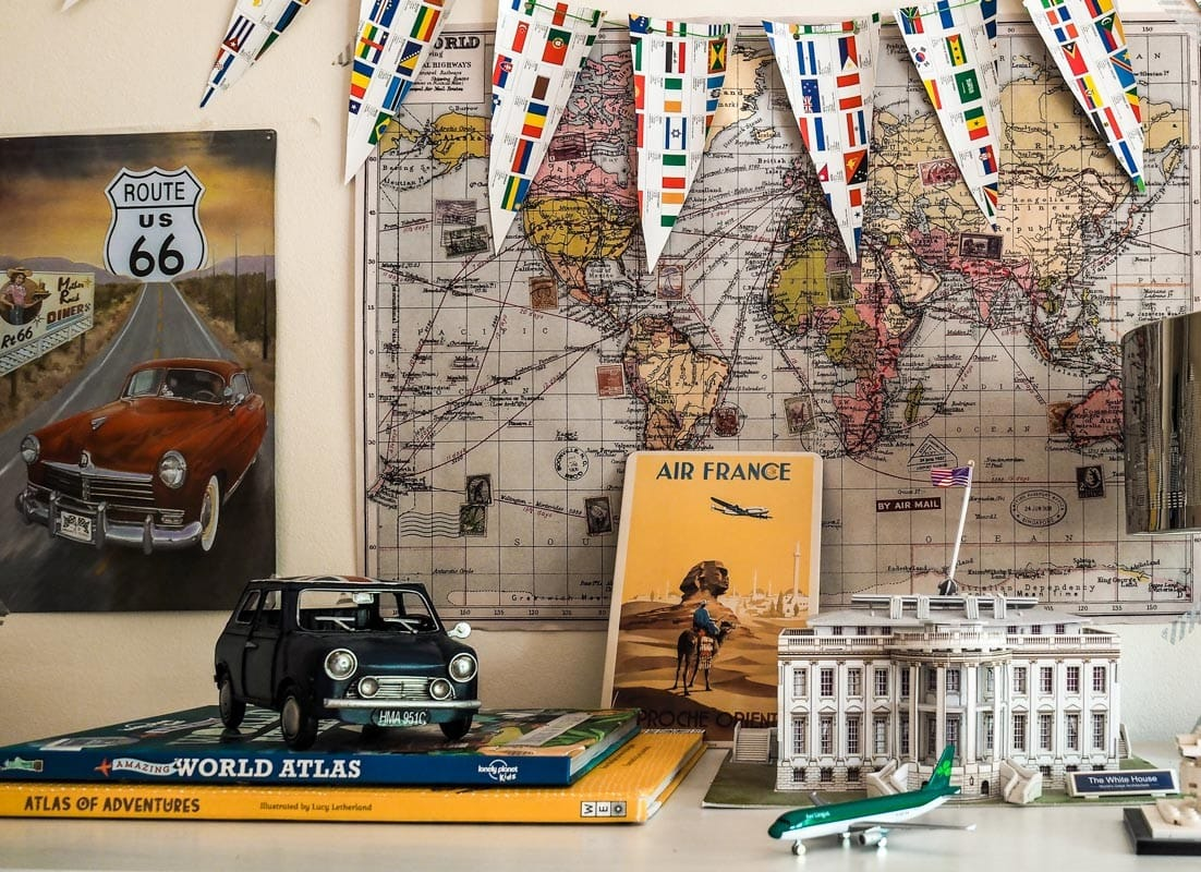 How to Create a Travel Themed Bedroom for Kids