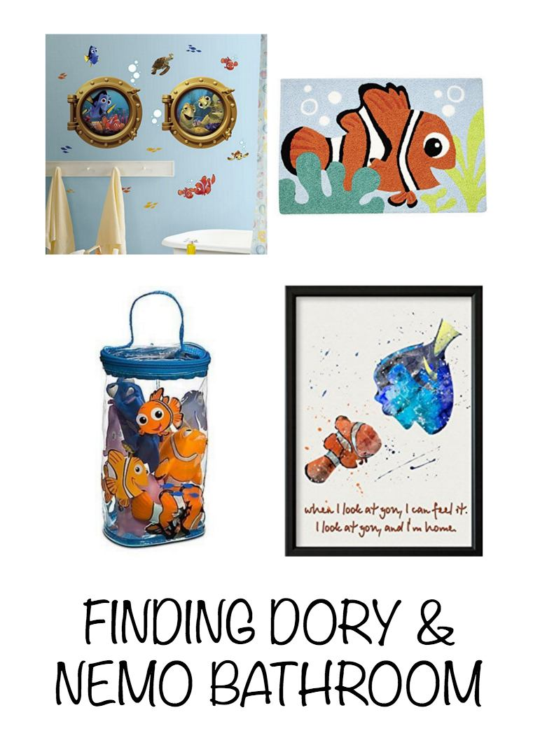Disney Decor and Gift Ideas ~ Dory and Nemo Children's Bathroom
