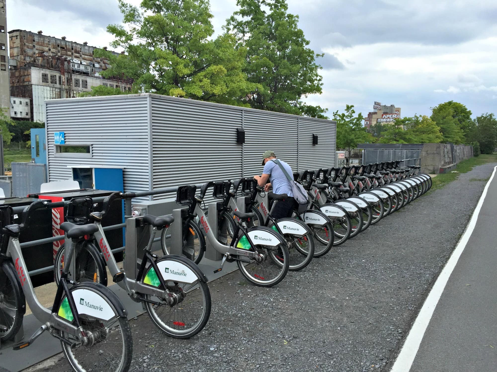 Renting a Bixi bike is a great way to get around Old Montreal ~ Montreal with Kids