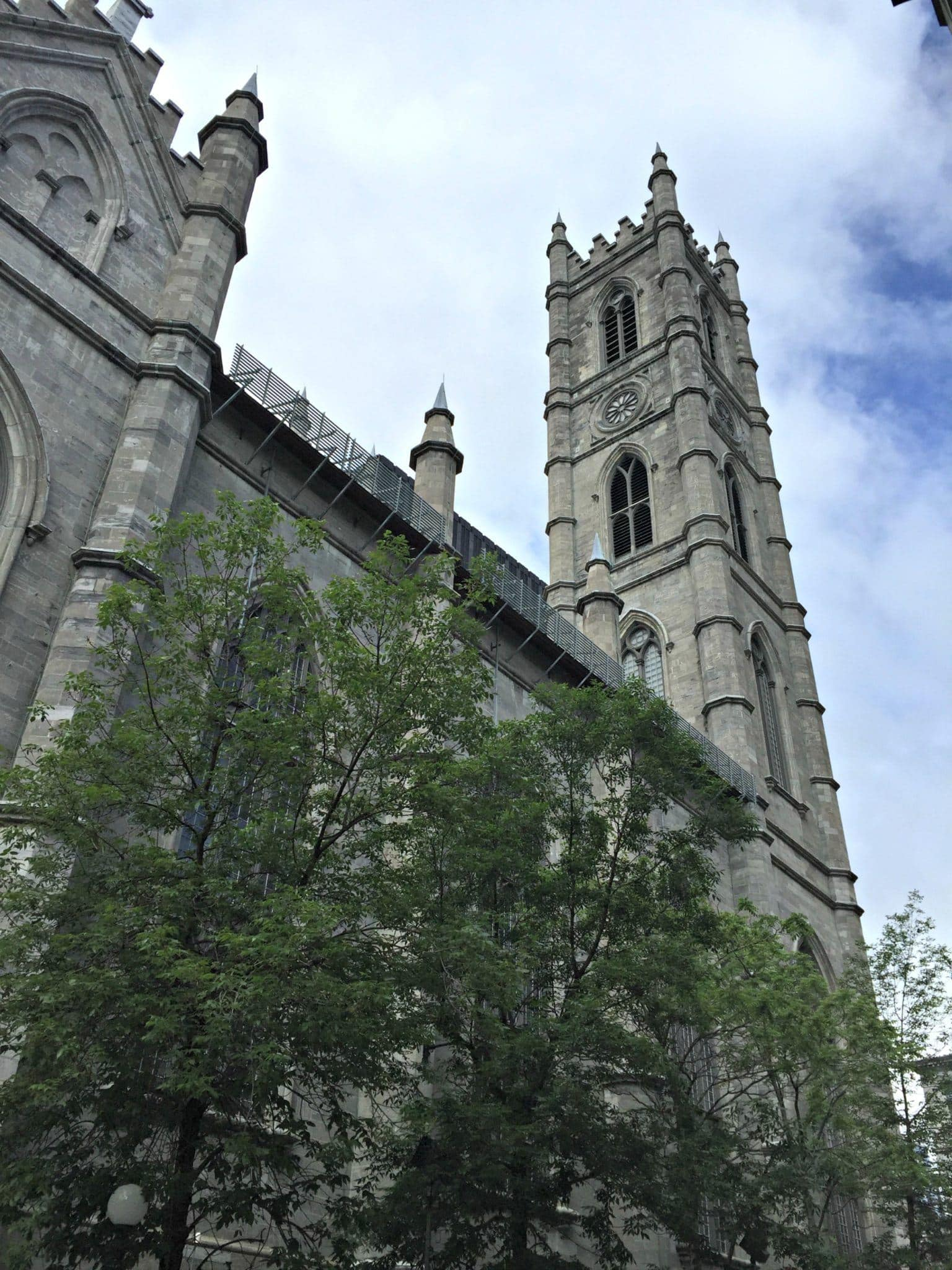 The historic Notre Dame Basilica in Old Montreal