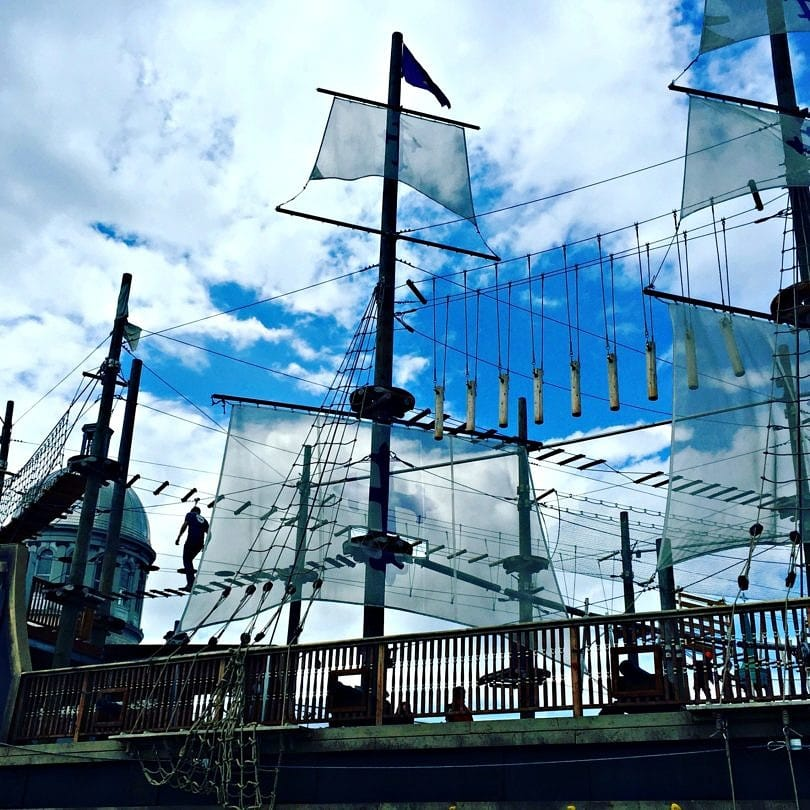 Do you dare to walk the ropes course at Voiles en Voiles?