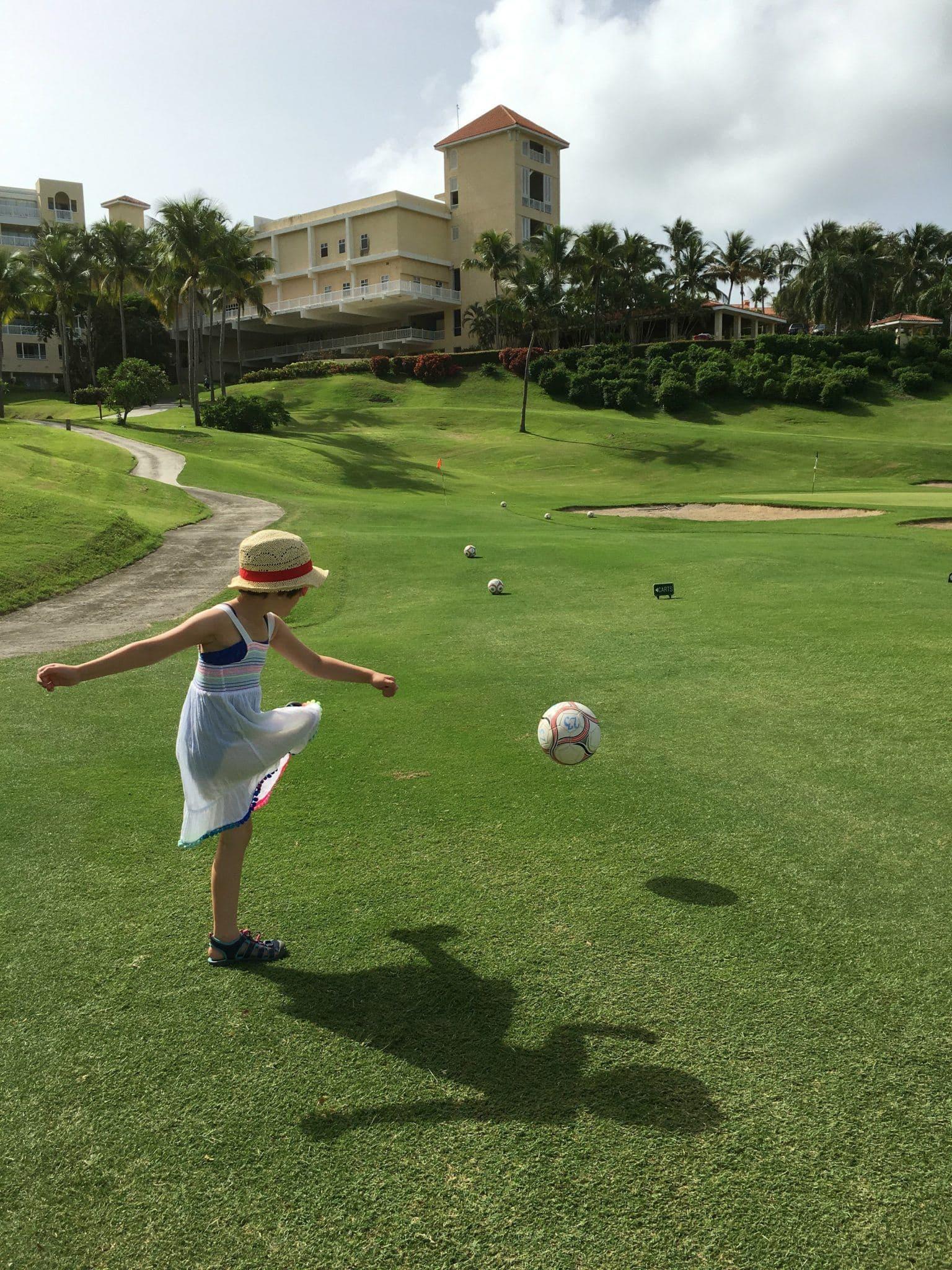 Puerto Rican Footgolf at El Conquistador Resort with Kids