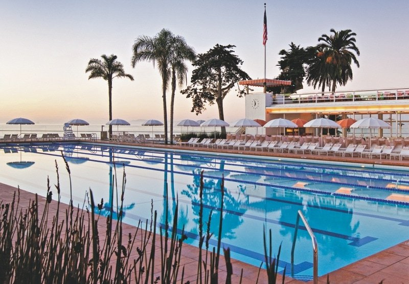The view from the Four Seasons Biltmore hotel pool ~ 10 Best Hotel Pools for Kids in the USA