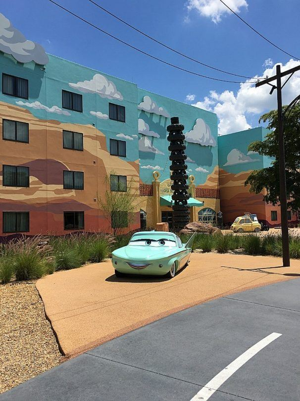Colorful photo ops abound at Art of Animation ~ 5 Hotel Suites for Kids that Feel Like Stepping into a Movie