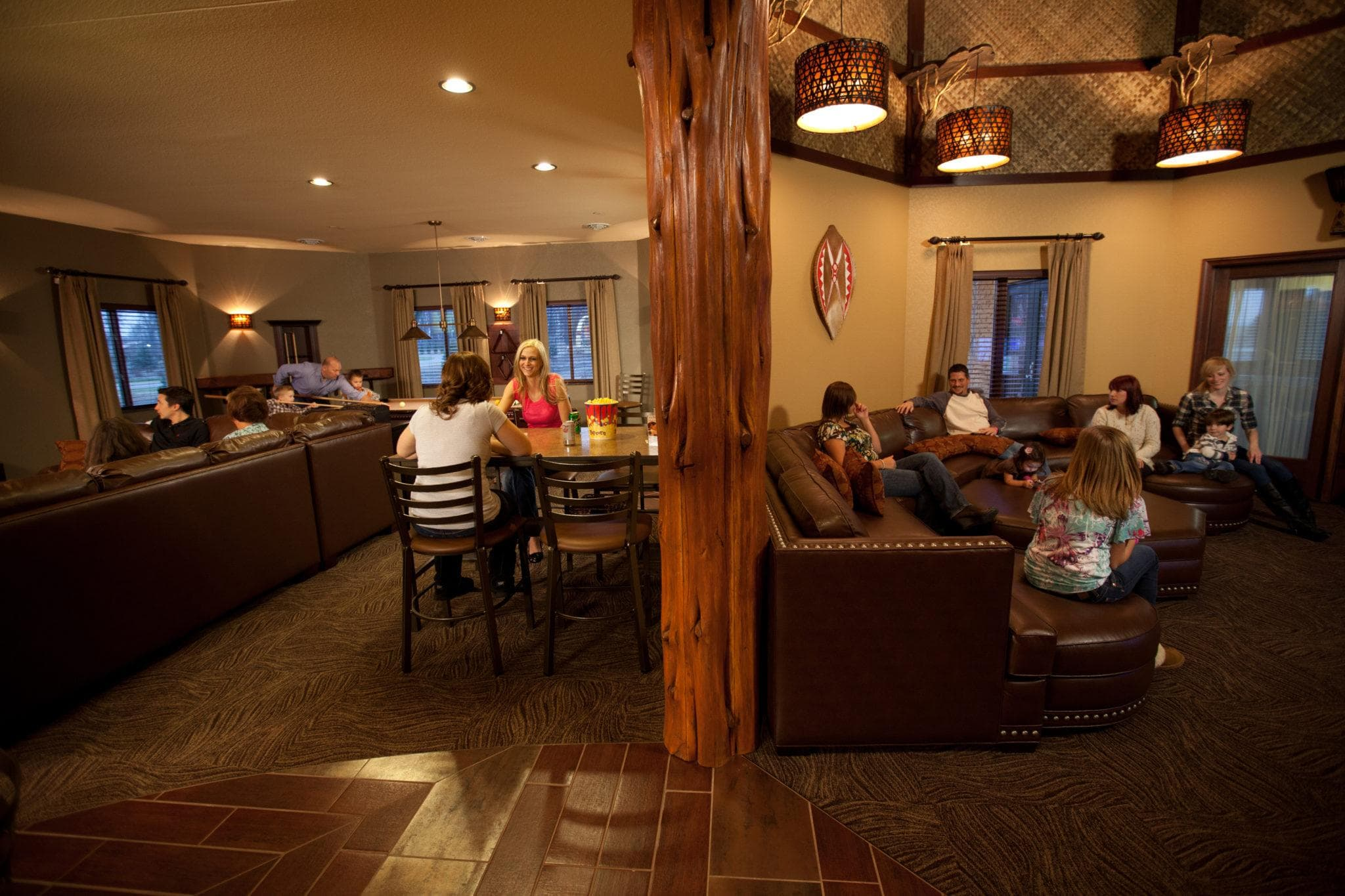 The expansive Entertainment Villa at Kalahari Resorts is fit for a king and his family ~ 5 Hotel Suites for Kids You Must See to Believe
