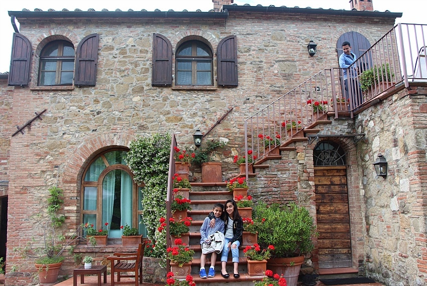 Feel like a princess in a movie at Relais San Bruno in Tuscany, Italy ~ 5 Hotel Suites for Kids that Feel Like Stepping into a Movie