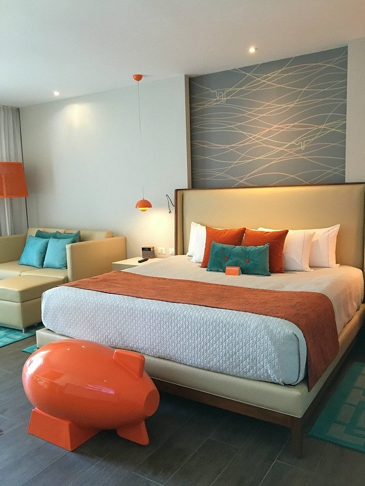 Modern decor at Nickelodeon Hotel Punta Cana
