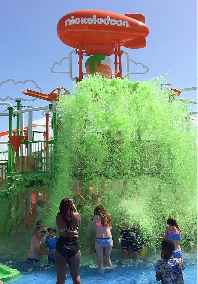 Kids love getting slimed ~ parents love taking pictures of the kids getting slimed at Nickelodeon Hotel Punta Cana!