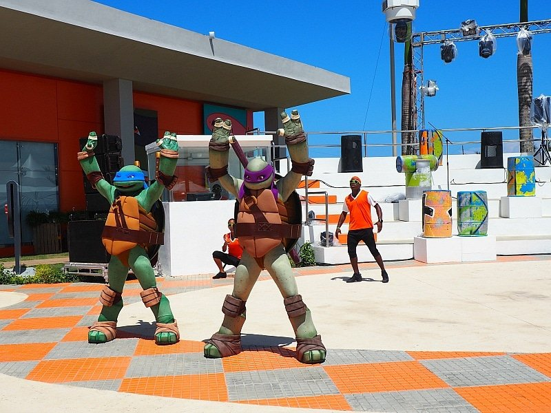 Teenage Mutant Ninja Turtles at Plaza Orange at Nickelodeon Hotel Punta Cana