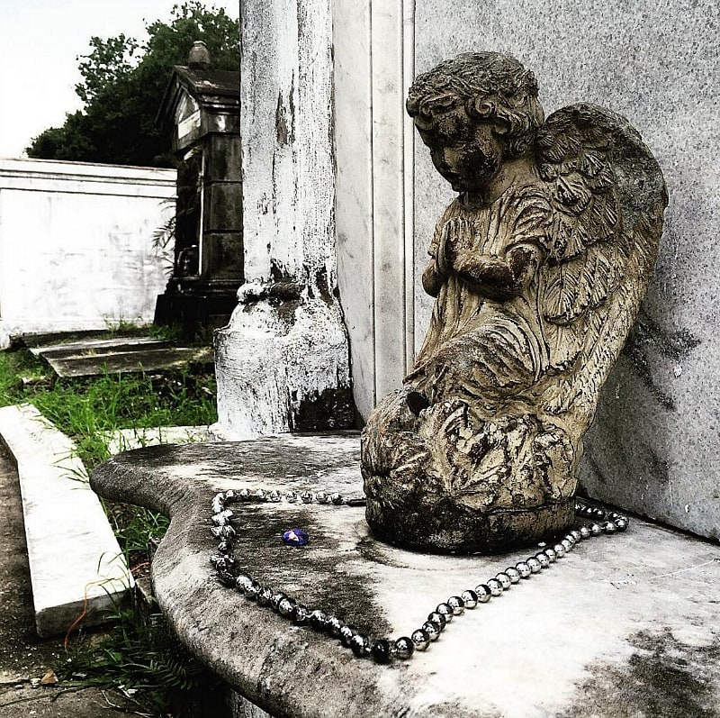 An angel statue in Lafayette Cemetery #1 ~ 10 Ways to Find Romance in New Orleans