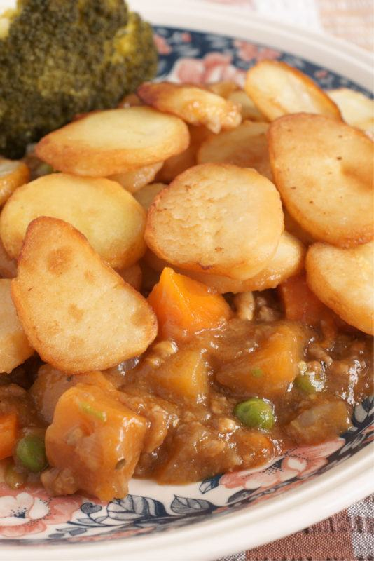 Lancashire Hotpot is a lamb stew topped with potatoes ~ 8 Traditional British Foods with Funny Names