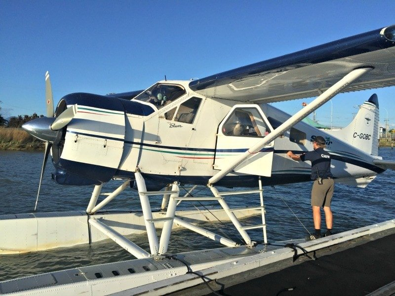 Floatplane is a spectacular way to arrive and depart the Resort. (Photo credit: Claudia Laroye)