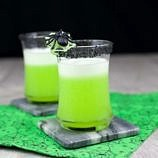 Midori Gin Fizz Recipe ~ Halloween Cocktail Recipes for the Spookiest Time of the Year