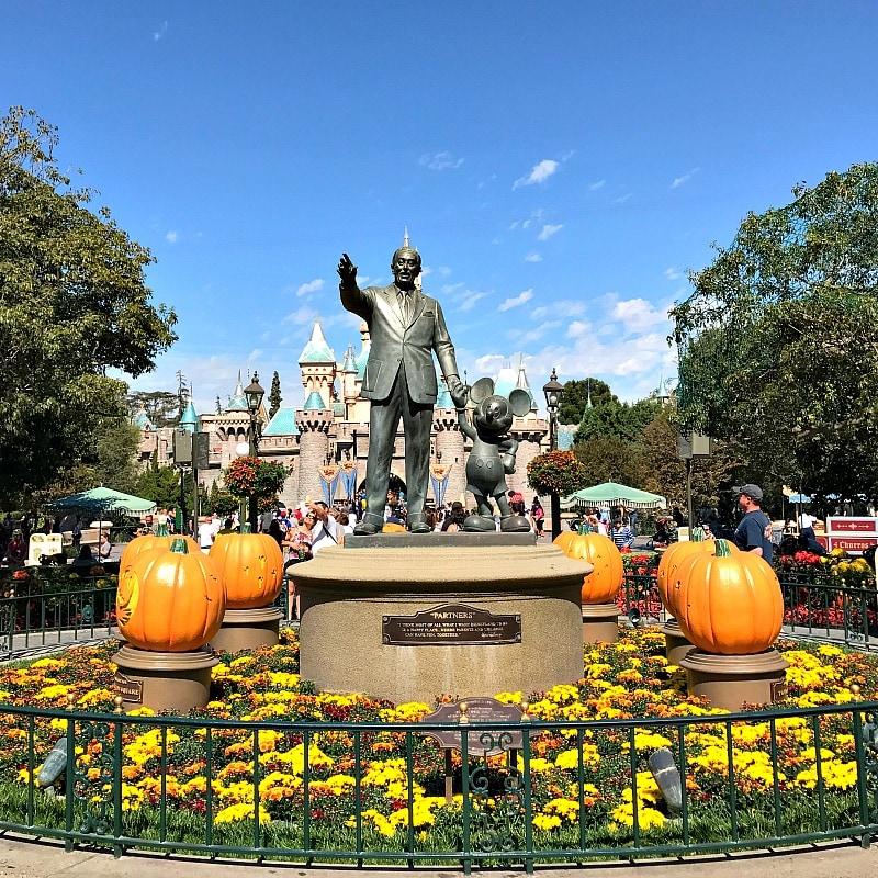 Halloween decorations at Disneyland ~ Why Visit Disneyland in Fall