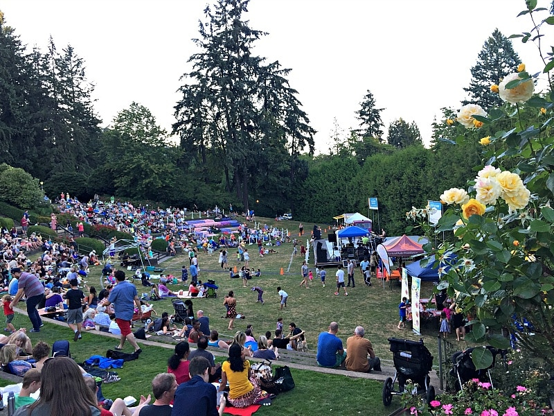 Free summer concert at the Washington Park Amphitheater ~ Portland with Kids