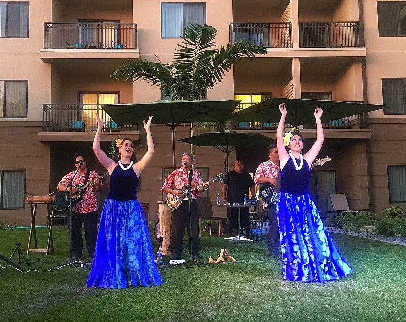 Hula dancers at the Residence Inn Maui Grand Opening