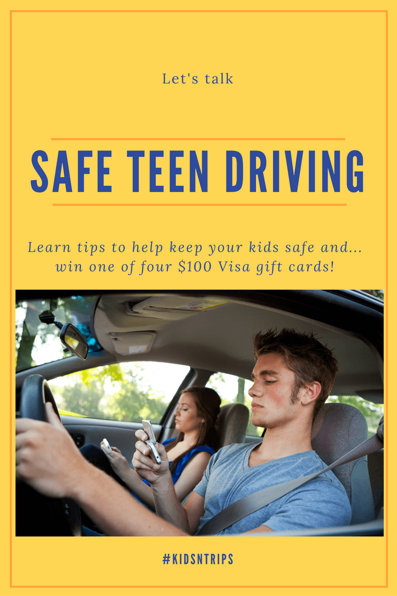 Safe Teen Driving #KidsNTrips Twitter Party on October 18, 2016 ~ Join for a chance to win one of four $100 Visa gift cards!