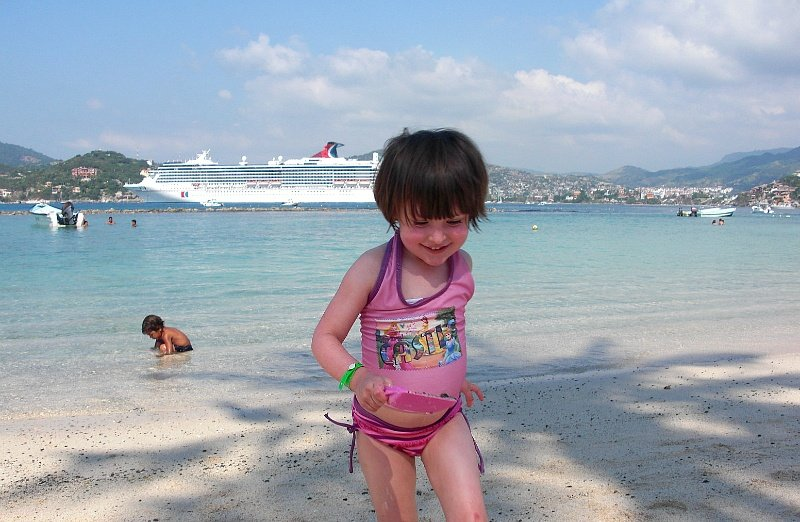 Carnival Cruise ship docked in Zihuatanejo, Mexico ~ 12 Essential Tips for Cruising with Kids