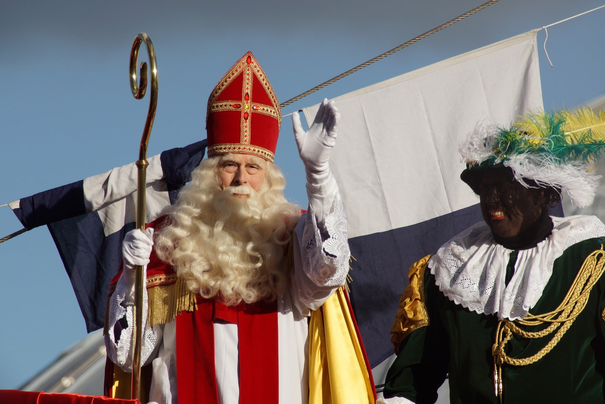 Sinterklaas and his assistant in the Netherlands
