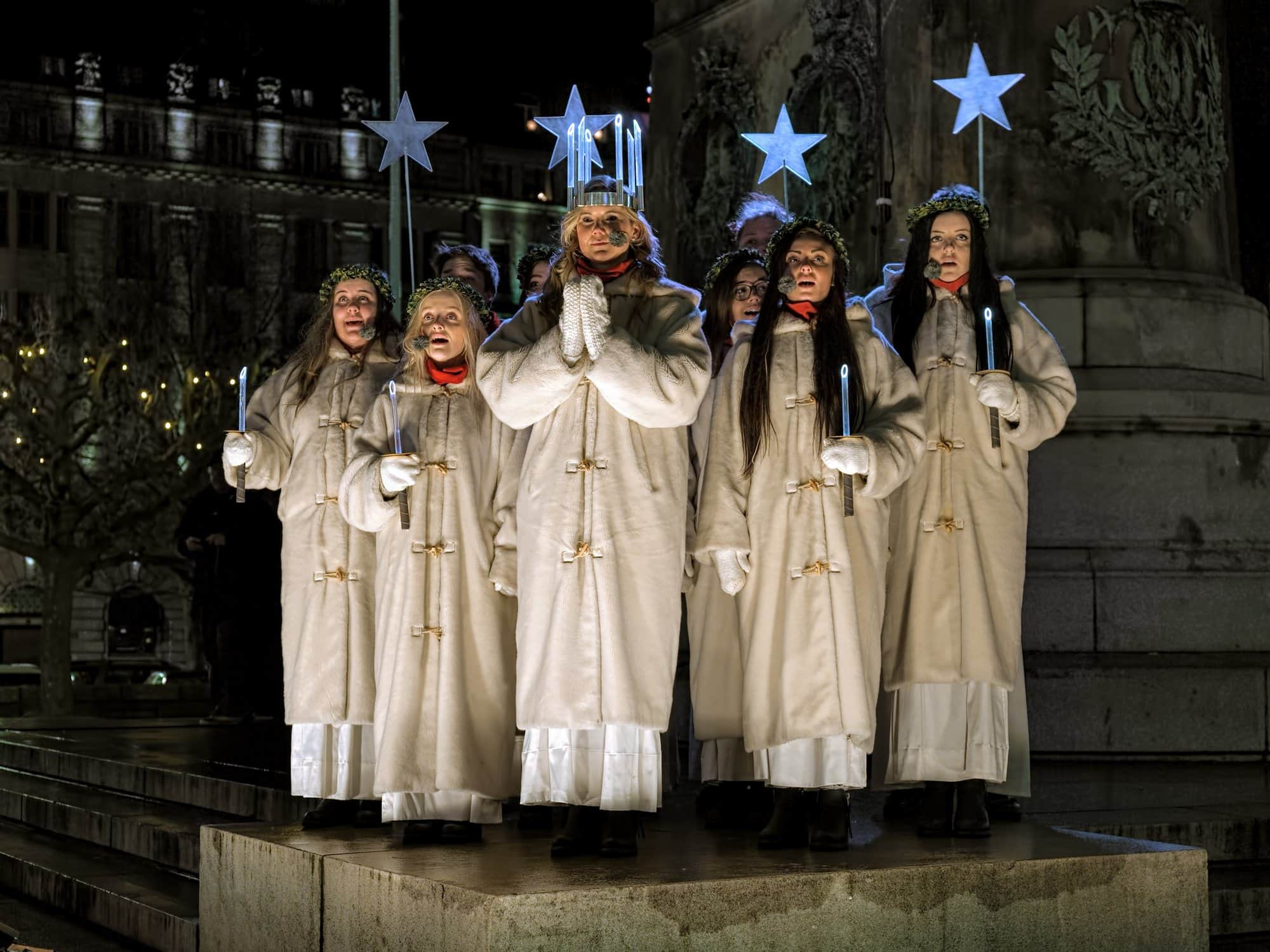 Celebration of St Lucy's Day in Sweden