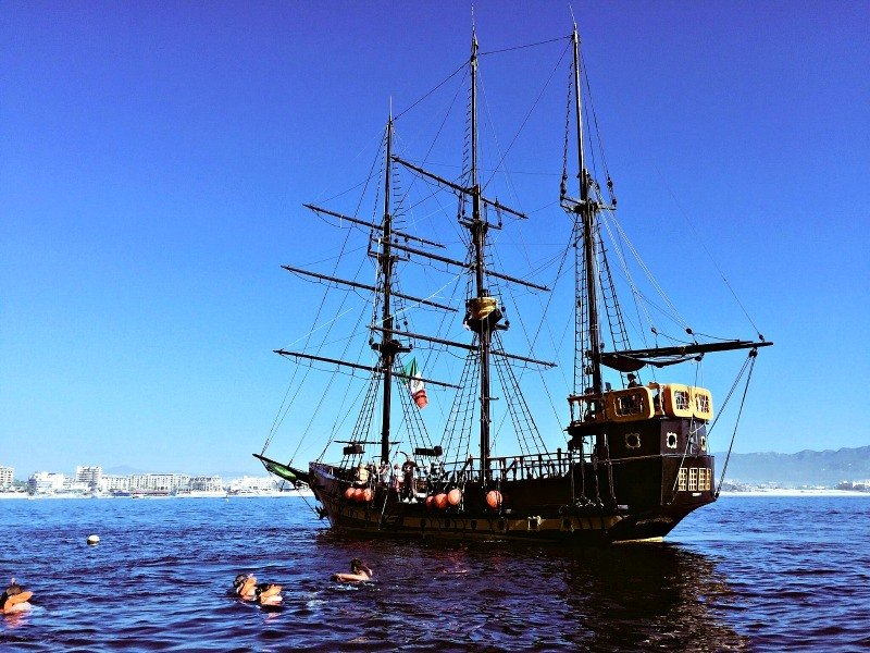 Ahoy matey! Set sail and snorkel off of a real pirate ship. (Photo credit: Claudia Laroye)