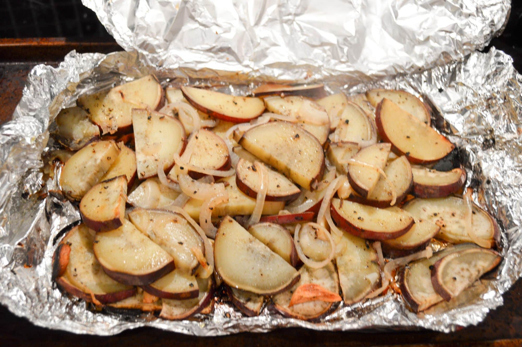 Treager smokers are for more than just meat, they also make great side dishes like these smoked potatoes!