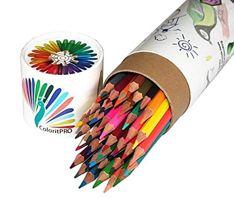 Keep artsy girls content on the go with this colored pencil set ~ Gift Ideas for Girls