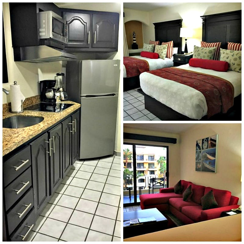 Families will find space and comfort in the two-bedroom connecting suites at Marina Fiesta Resort