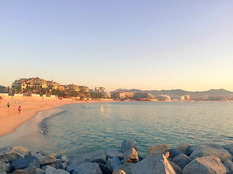 A sunrise glimpse of Medano Beach ~ Marina Fiesta Resort in Cabo San Lucas, Mexico