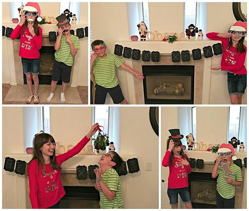 Fun with the Holiday Photo Booth props ~ Thoughtfully themed gift boxes