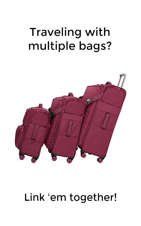 Traveling with multiple bags? Link 'em together with It Luggage Carry Tow. Watch this video to learn more!