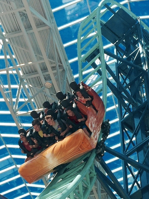 Roller coaster at Nickelodeon Universe in Mall of America (Photo credit: Beth Blair)