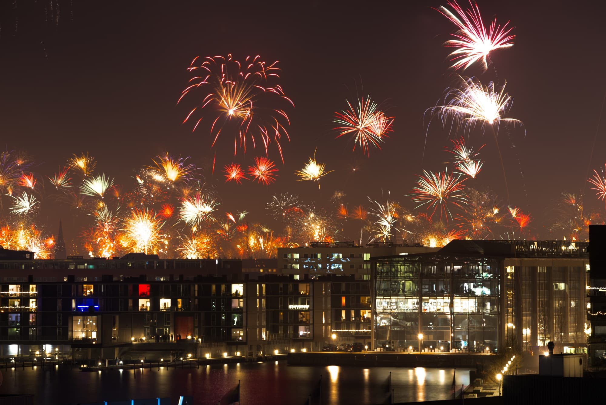 Fireworks in Copenhagen Denmark ~ Fun New Year's Eve Traditions from Europe