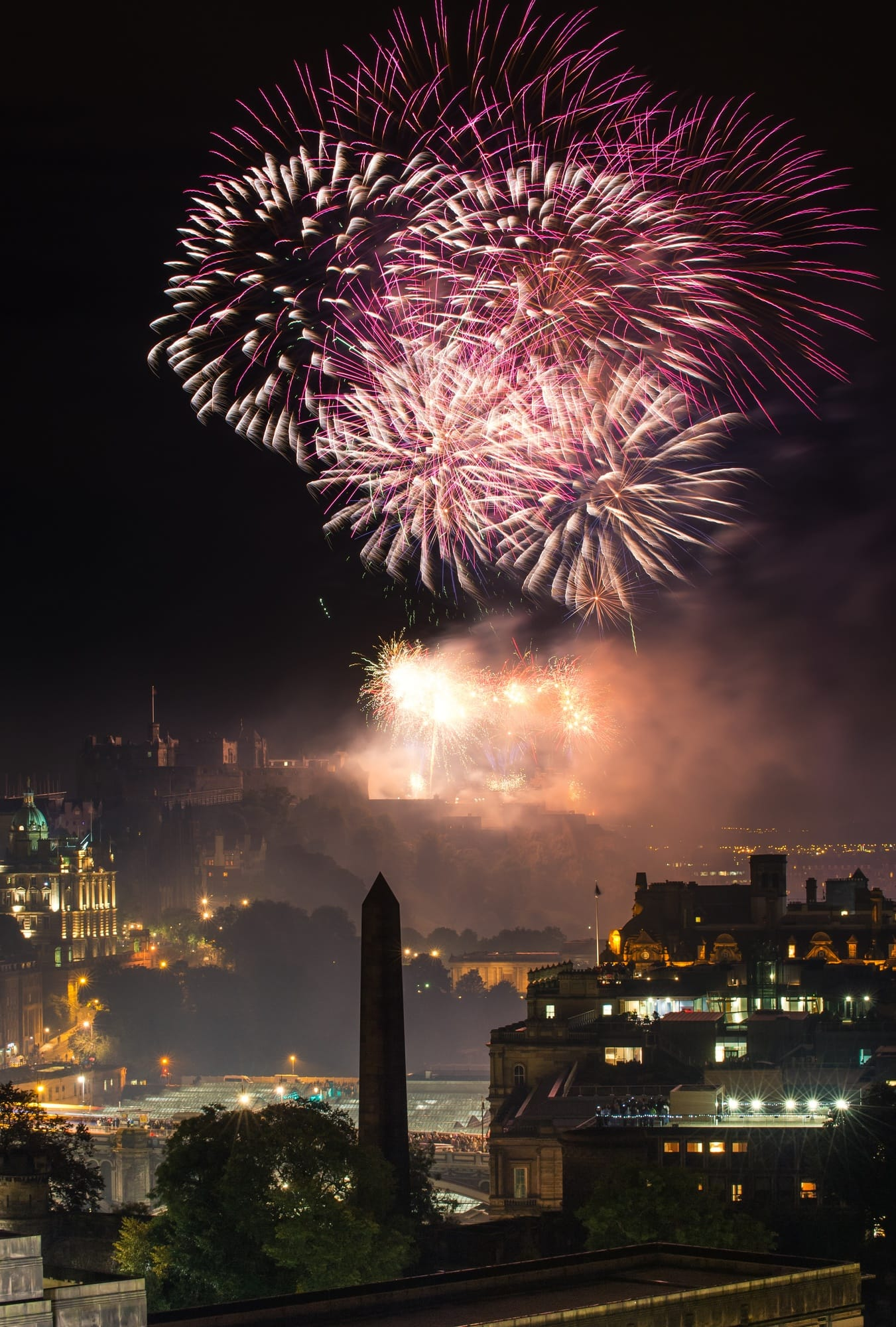Fireworks over Edinburgh Castle ~ New Year's Eve Traditions from Europe
