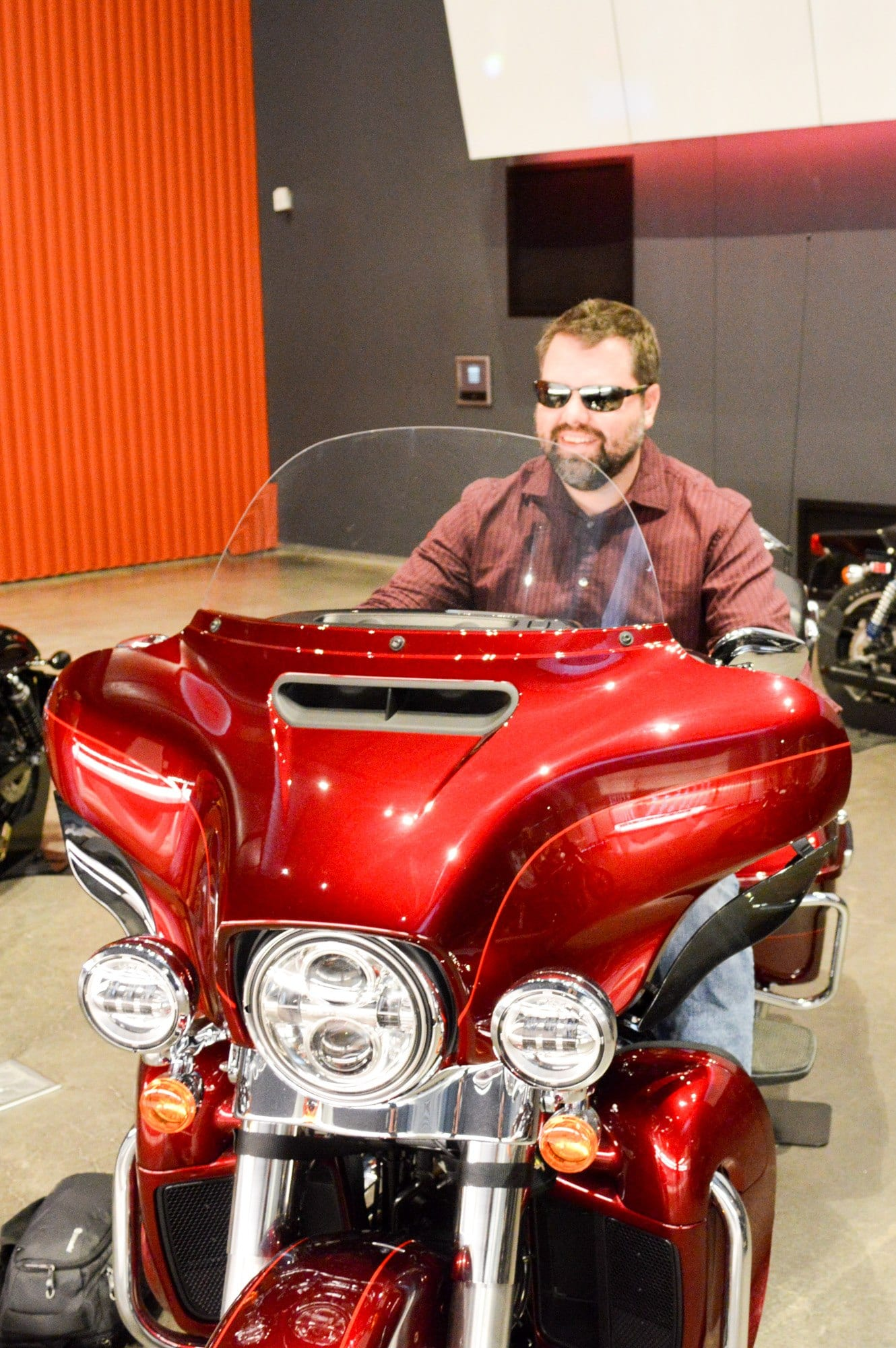 Dreaming of owning a motorcycle at the Harley Davidson Museum (Photo credit: Bryan Richards)