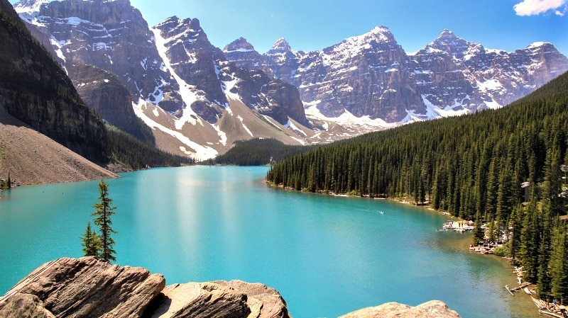 Morraine Lake, in Lake Louise, Alberta ~ 10 Reasons to Visit Canada in 2017