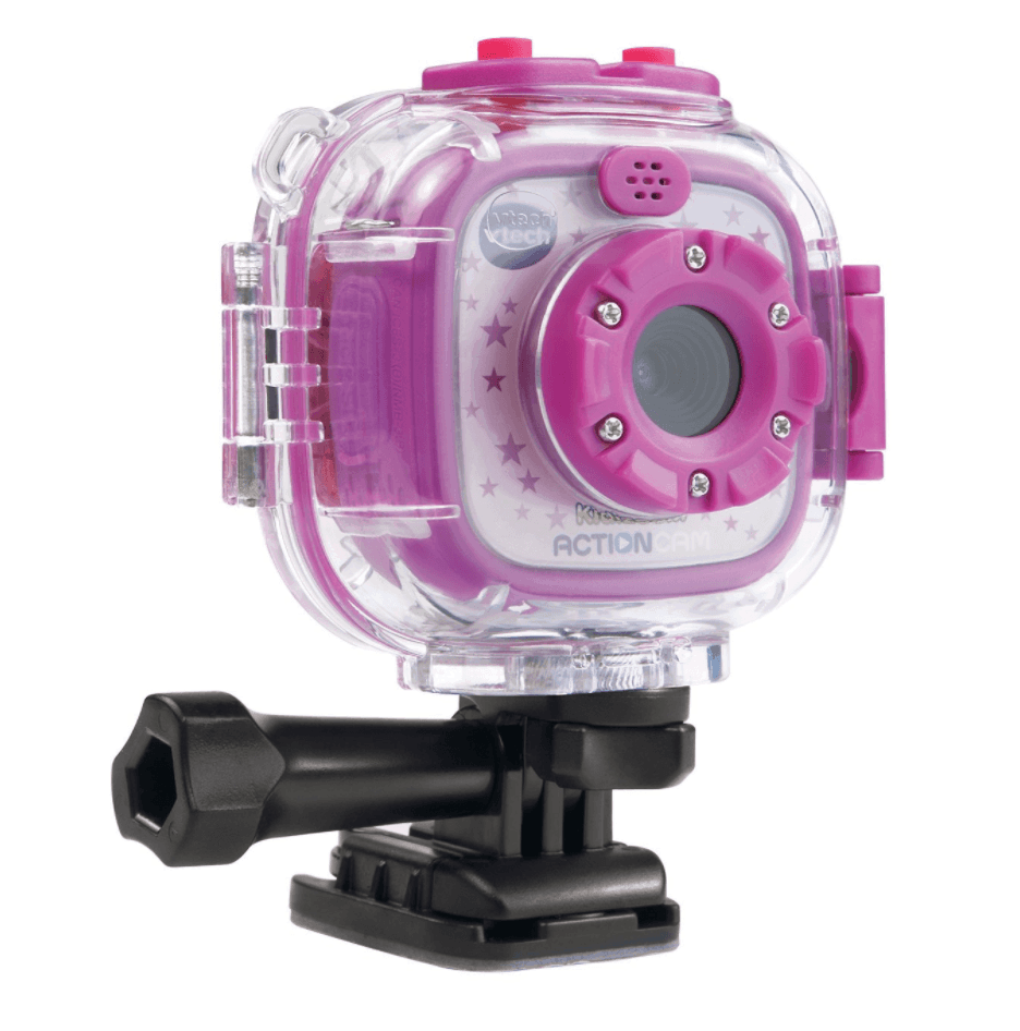 Kids capture vacation action with the waterproof VTech Kidizoom Action Cam ~ Toys for Traveling with Kids