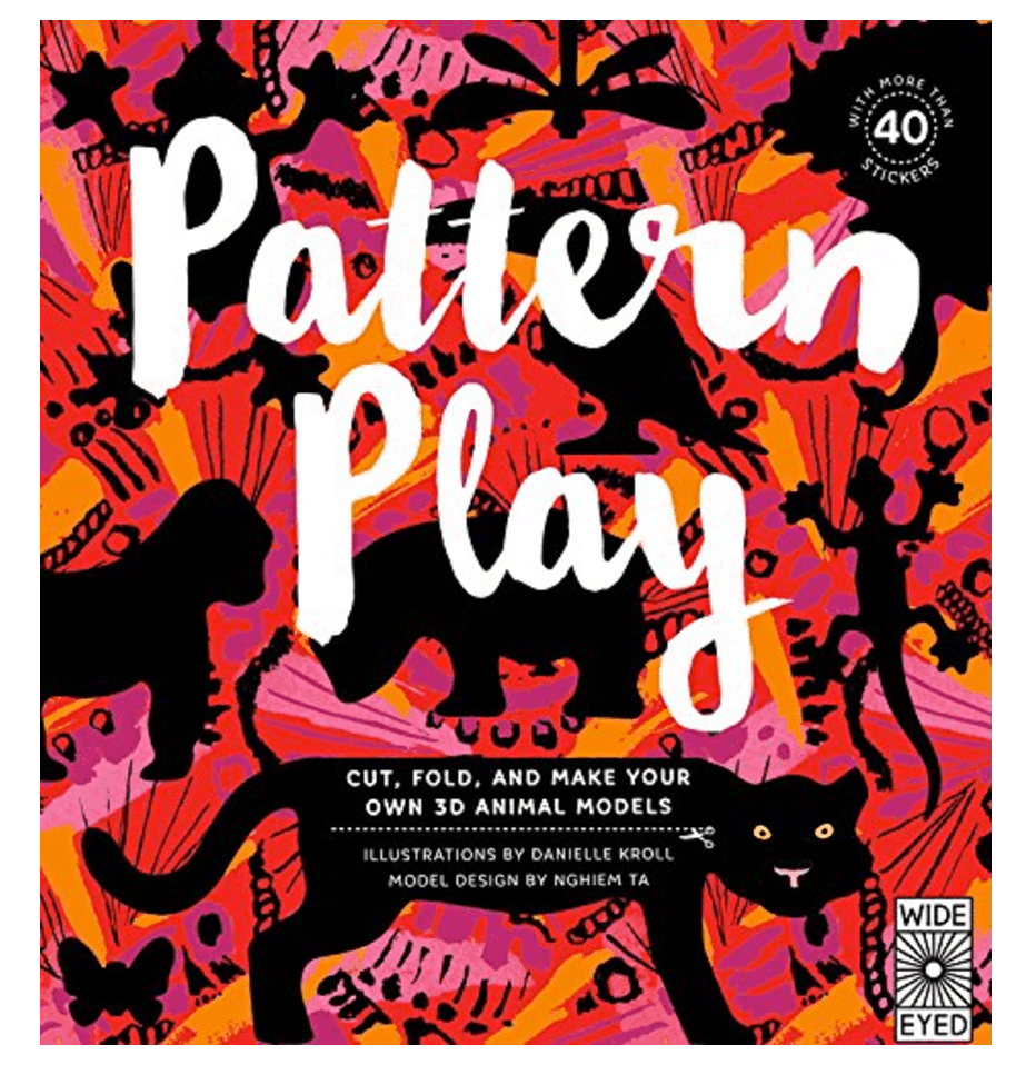 This book of patterned paper keeps hands and minds busy while traveling ~ Toys for Traveling with Kids