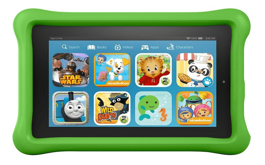 Kid-proof Kindle Fire, for gaming and reading ~ Toys for Traveling Kids