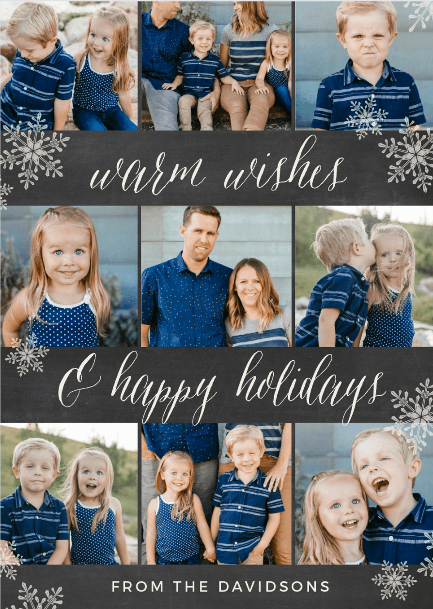 Basic Invite holiday card