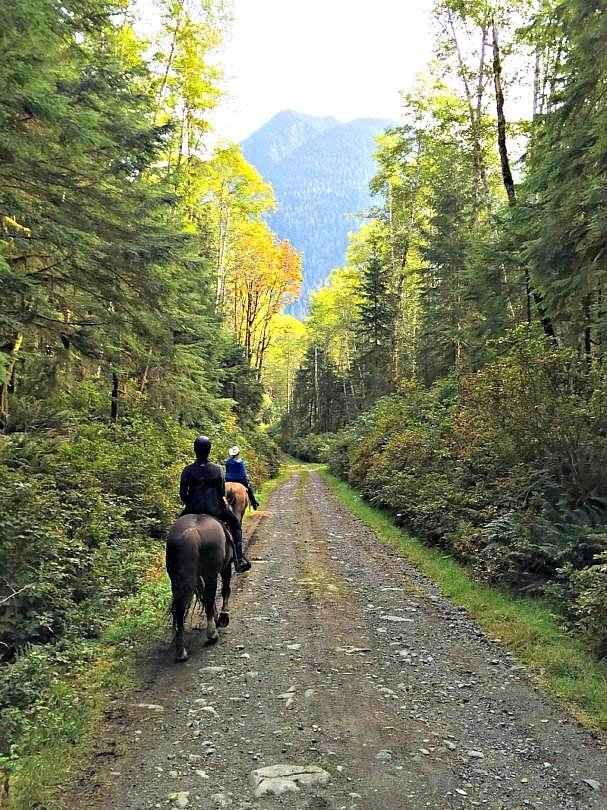 Riding a horse for the first time was a thrill at Clayoquot Wilderness Resort on Vancouver Island, British Columbia!