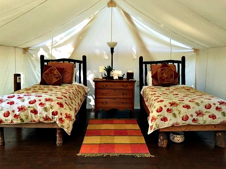 The best sleep-away tent, just for kids at Clayoquot Wilderness Resort on Vancouver Island, British Columbia